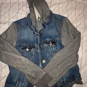 jean/ hoodie jacket